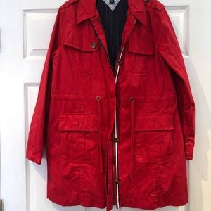Tommy Hilfiger women's red coat